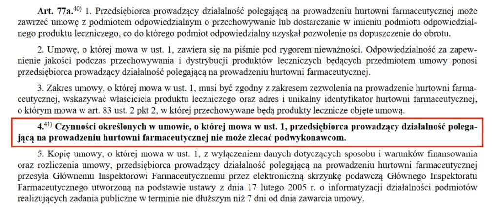 Art 77a ust. 4 wchodzi w życie 1 lipca 2020 r.