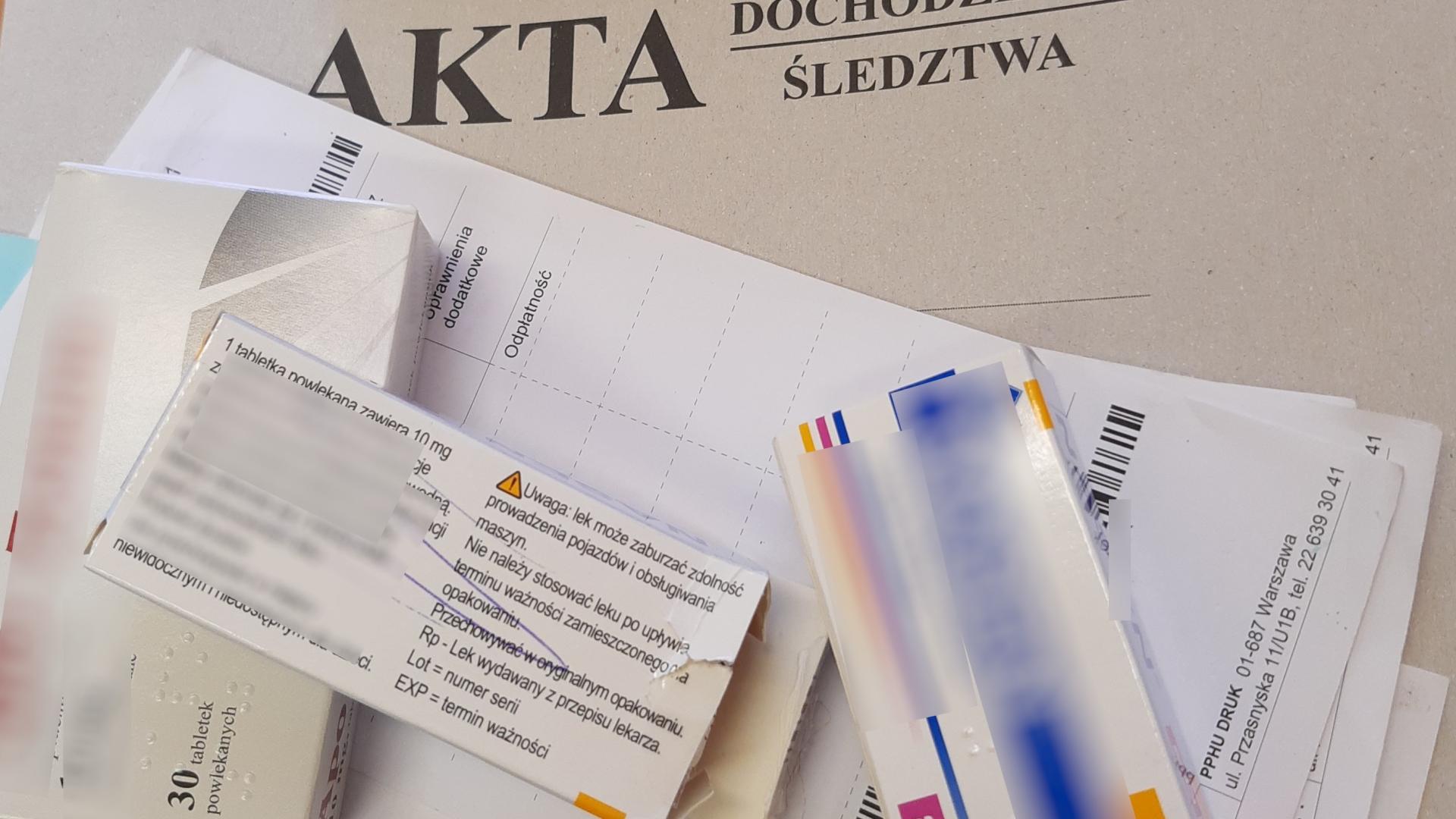 Lekarka podrabiała recepty posługując się danymi innego lekarza (fot. skierniewice.policja.gov.pl).