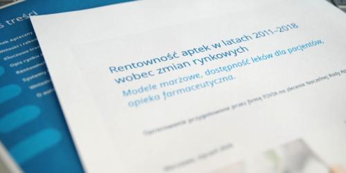 Rentowność aptek w latach 2011–2018. Raport, konferencja i dyskusja…