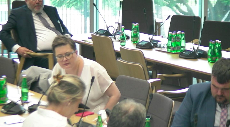 Poseł Katarzyna Lubnauer podniosła kwestię nadzoru farmaceutów nad technikami farmaceutycznymi (fot. MGR.FARM).
