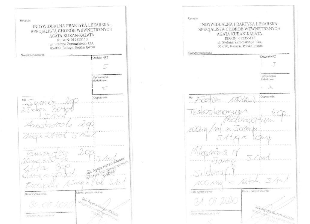 Dwie fałszywe recepty próbowano zarealizować w ubiegłym tygodniu w Warszawe (fot. WIF w Warszawie)