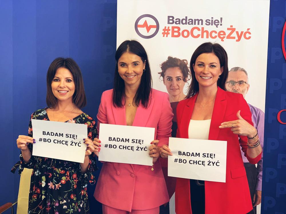 """Kampania """"Badam Się. Bo Chcę Żyć"""" ma na celu przede wszystkim zwiększenie uczestnictwa w badaniach profilaktycznych i diagnostycznych (fot. Fundacja Wygrajmy Zdrowie)."""