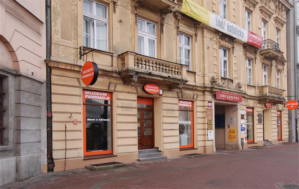 Siedziba Muzeum Farmacji w Łodzi mieści się przy pl. Wolności 2 (fot. muzeumfarmacji.eu)