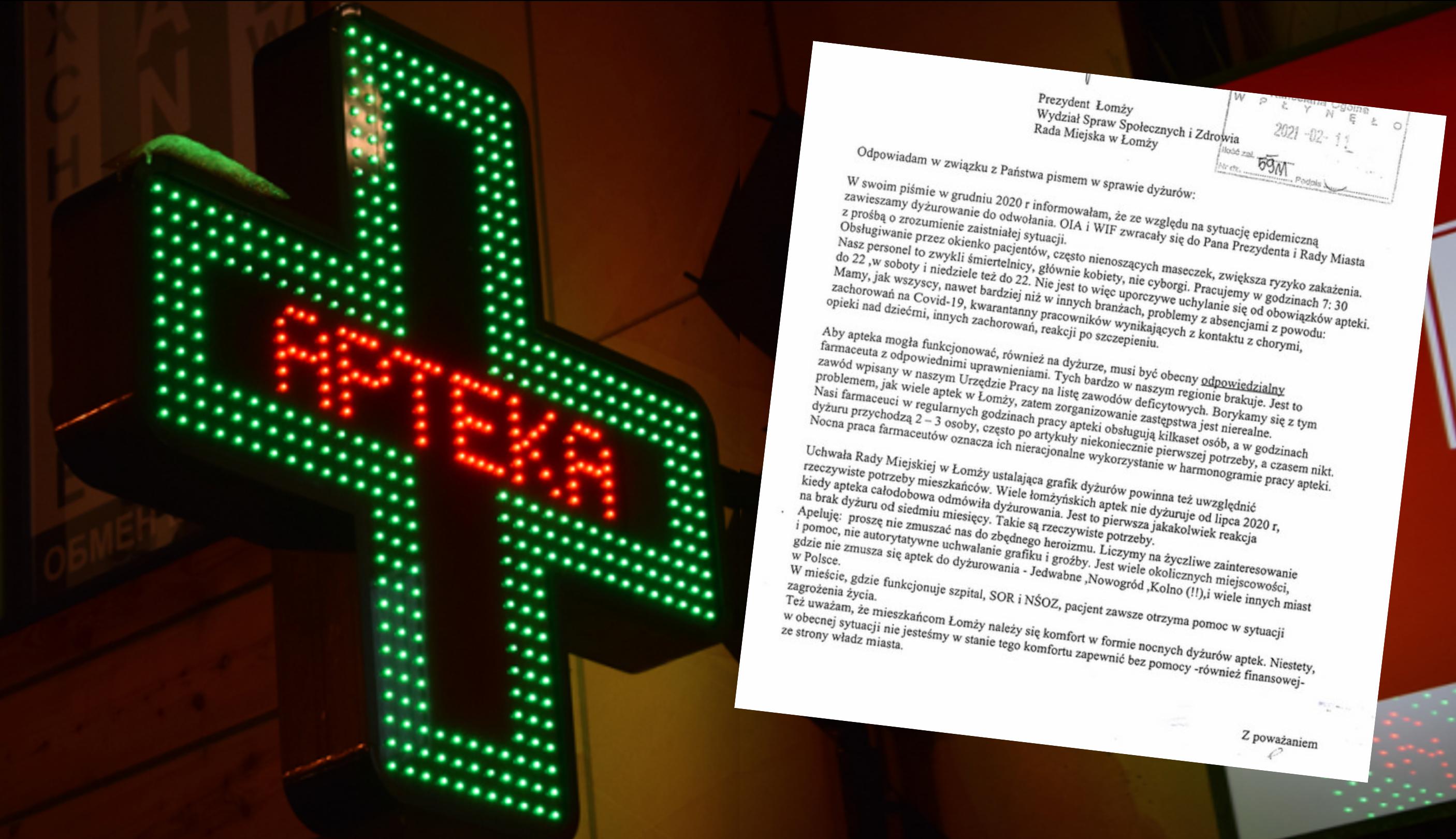Właścicielka apteki w Łomży wskazuje w swoim liście, że uchwała Rady Miejskiej powinna uwzględniać realne potrzeby mieszkańców (fot. Shutterstock/lomza.pl)